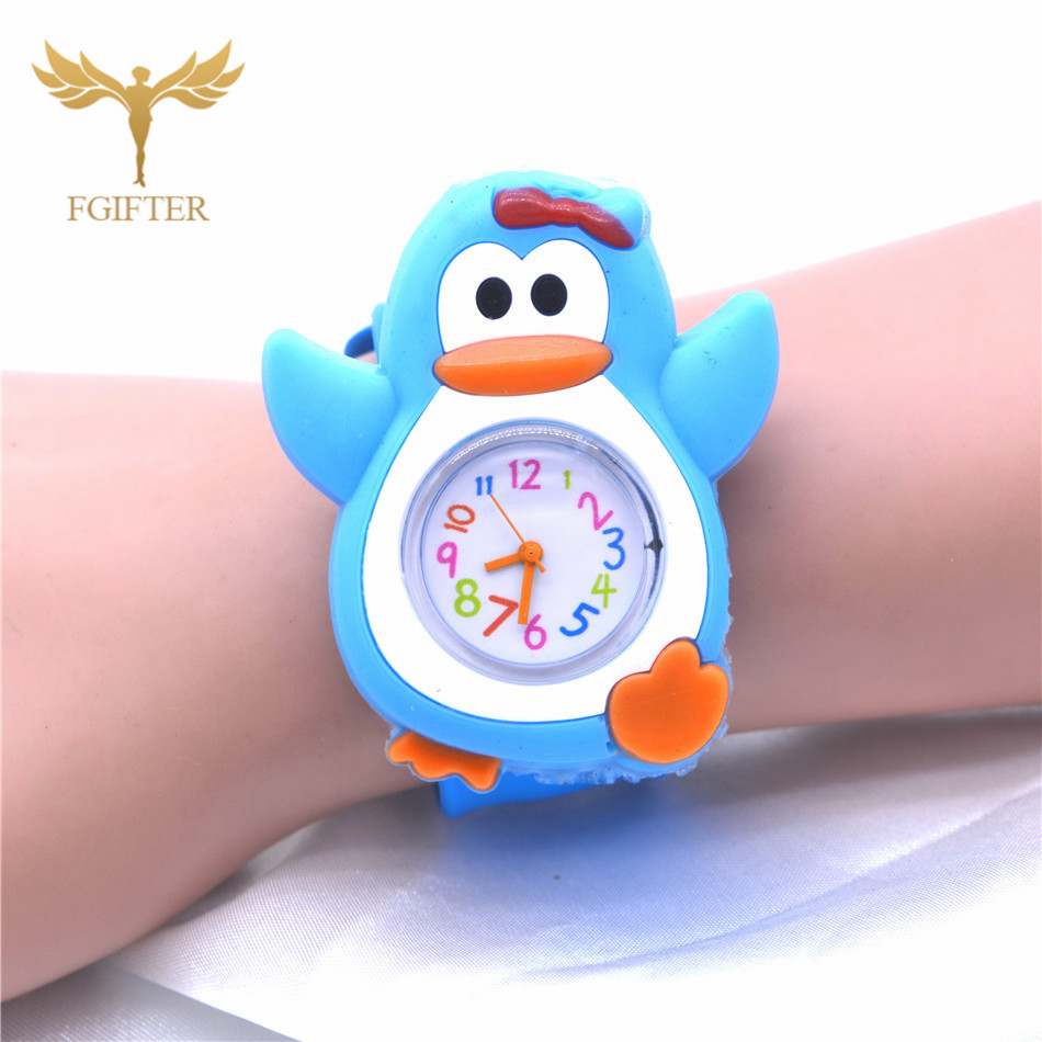 Cute Animal Penguin Shape Watch Kids Child Rubber Belt Wrist Watches Quartz Clock Boys Baby Gifts
