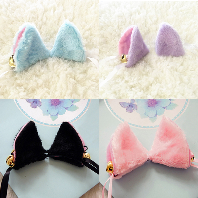 Cosplay Halloween Orecchiette Party Anime Neko Costume Cat Fox Ears Hair Clip Bell Headwear Party Ball Club free shipping 1 Pair devil may cry 4 dante cosplay wig halloween party cosplay wigs free shipping