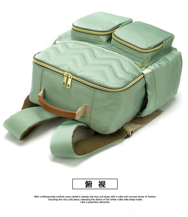 2019 New Baby Diaper Bag Interface Large Capacity Waterproof Nappy Bag Kits Mummy Maternity Travel Backpack Nursing (20)