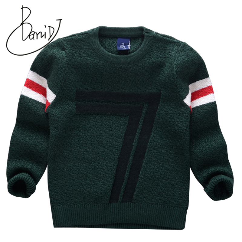 BEMIDJ 2018 new children clothing Boys pullover Solid Pattern Full Casual Autumn Knitted Sweaters Hot Students Cotton Clothes chic quality casual style solid color cotton pattern knitted blanket