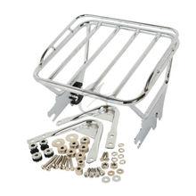 Motocicleta dois up bagagem rack + encaixe de ferragem para harley touring road king electra glide estrada glide 1997 2008