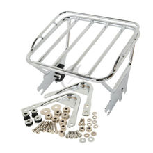 Motorcycle Two Up Luggage Rack + Docking Hardware For Harley Touring Road King Electra Glide Road Glide 1997 2008