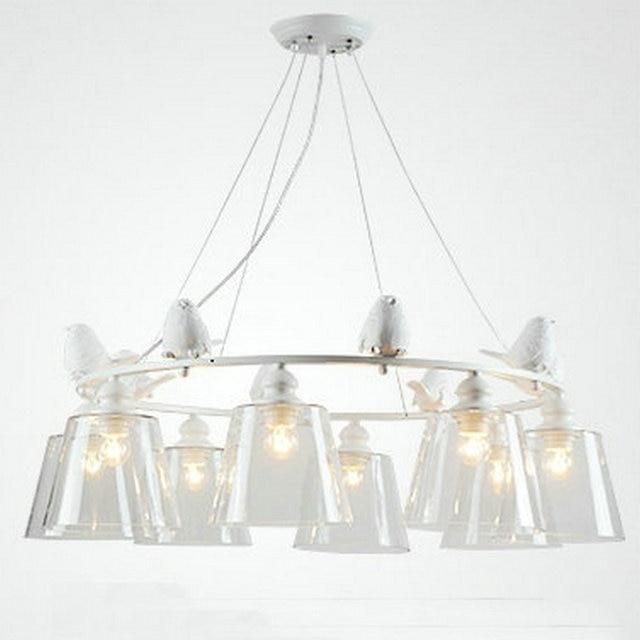 Moderne LED Vogel Weiß Eisen schlafzimmer leuchte hängeleuchte mit ...
