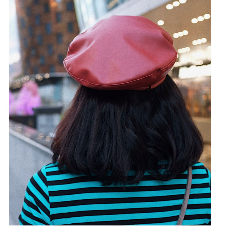 beret women winter french red black wool beret hat women french hat female beret women beret hats women leather beret women (6)