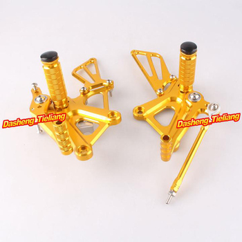 Adjustable Shift Foot Pegs Rear Set Footrests Replacement Kit For Honda CBR250R CBR 250R 2010-2013 Motorcycle Accessory Parts