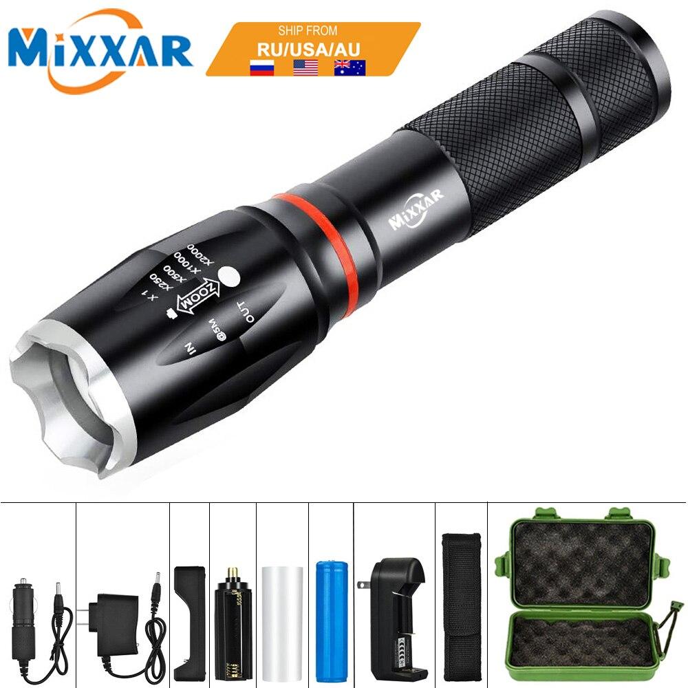 EZK20 Dropshipping LED 8000 Lumen Handheld Taktische Taschenlampe 18650 COB Laterne Magnetische 6 Modi Wasserdicht für Notfall