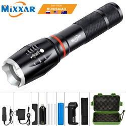 EZK20 дропшиппинг светодиодный 8000 Люмен ручной тактический фонарик 18650 фонарь COB Магнитная 6 режимов водонепроницаемые для аварийного