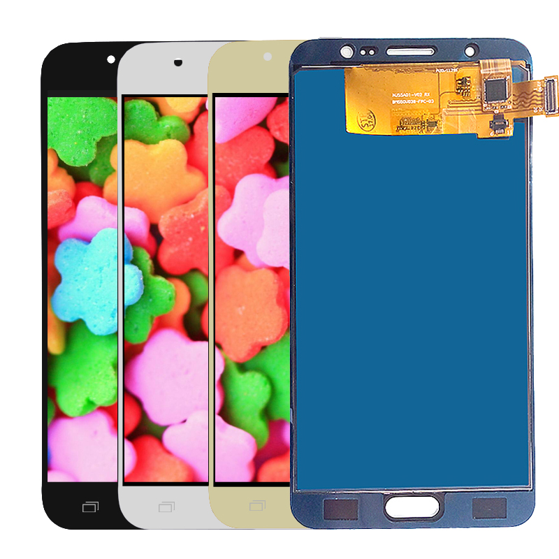<font><b>LCD</b></font> Für Samsung Galaxy J7 2016 J710 <font><b>J710F</b></font> J710M J710Y J710G <font><b>LCD</b></font> Display Touchscreen Digitizer Montage Einstellbare Helligkeit image