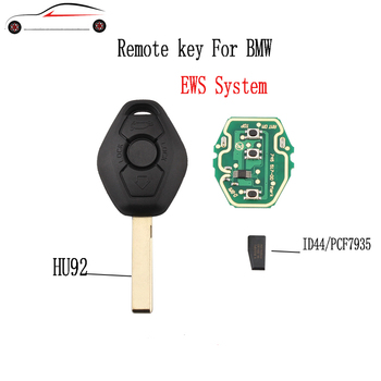 GORBIN 433/315Mhz Remote Car Key For BMW 325 330 318 525 530 540 E38 E39 E46 M5 X3 X5 M5 EWS System ID44/7935 Chip HU92 Blade