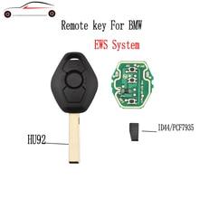 GORBIN 433/315Mhz remoto llave de coche para BMW 325, 330, 318, 525, 530, 540 E38 E39 E46 M5 X3 X5 M5 EWS sistema ID44/7935 Chip HU92 hoja