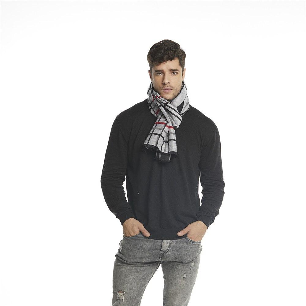 f2d233f244a QC 2018 Элитный бренд Для мужчин шарф Англии Стиль Для мужчин s шарфы и  палантины шарф