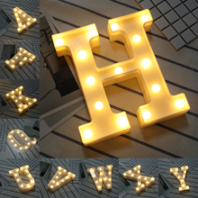 22cm White Plastic 26 Letter digital LED Night Light Marquee Sign Alphabet Lights Lamp Home Club Outdoor Indoor Wall Decoration new wedding event decoration gifts white wooden letter led marquee sign alphabet light indoor wall light up night light