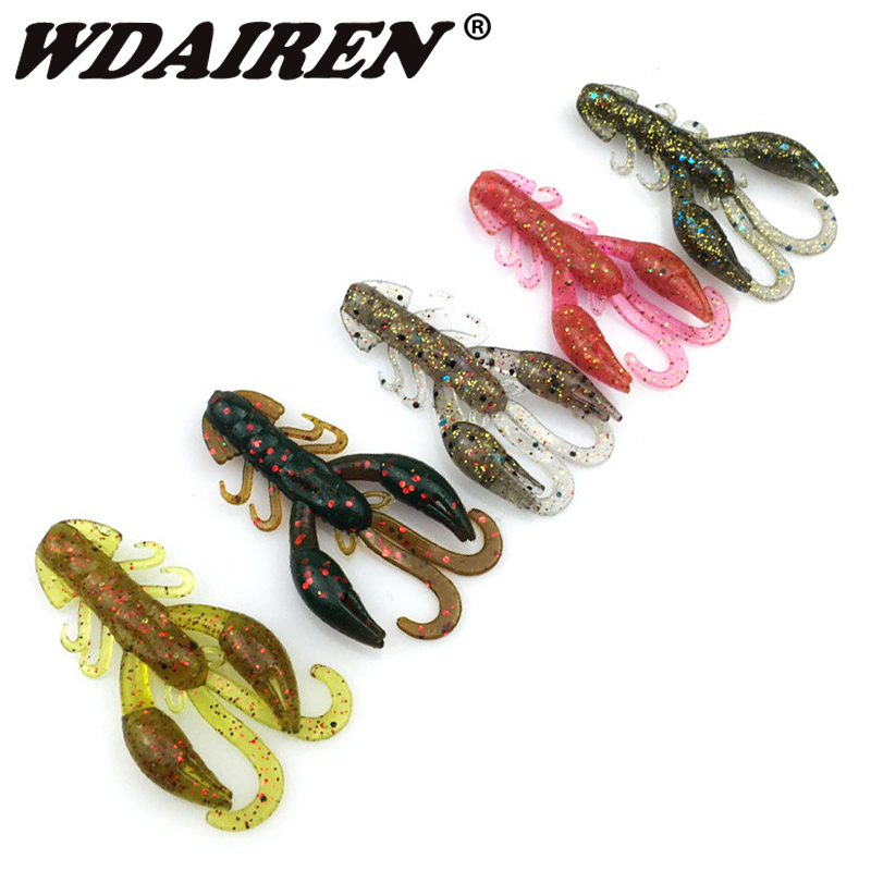 5Pcs/pack soft Worm Shrimp sea Fishing Lure 5cm/2g salt smell Tackle Jig Wobbler swivel Baits Practical fishing peche Shad 30pcs set fishing lure kit hard spoon metal frog minnow jig head fishing artificial baits tackle accessories