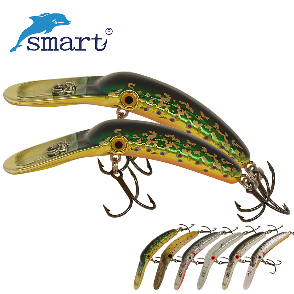 SMART Crankbait Fishing Lure 60mm 9.7g Floating3.5m VMC Hook Hard Baits Iscas Artificial Pesca Leurre Peche Swimmbait