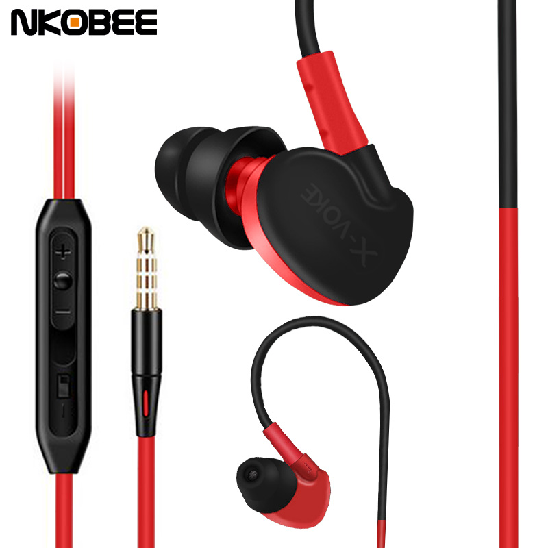 Waterproof Earphone In ear Earphone Waterproof Running Earbuds Ear phone Subwoofer Headset With Mic For Samsung Xiaomi Earbuds