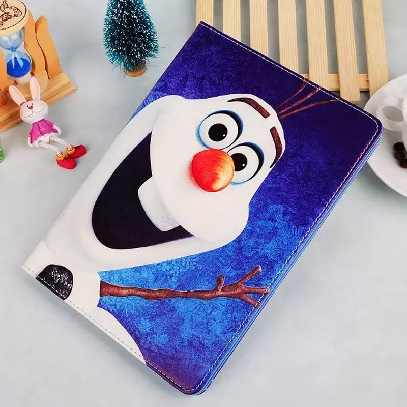 New Case for ipad mini 1 / 2 / 3 The White Snow Queen Ice Princesses cartoon Anna Elsa Olaf tablet Cover Flip stand shell coque морозильный шкаф love the snow 1 2 1 5 1 8