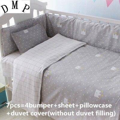 Discount! 6/7pcs Cartoon Baby Animal Comforter,Baby Bedding Set 100% Cotton /,120*60/120*70cm discount 6 7pcs lion baby bedding set 100