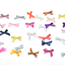 Color Random 500pcs/lot Scrapbooking Embellishment Crafts Decoration Wedding Handmade DIY Small Polyester Satin Ribbon Bow Tie цена