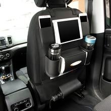 Man Leather Car Organizers Seat Back Car Seat Pocket Folding Portable Storage Bag Hanger Backseat Organizador Box