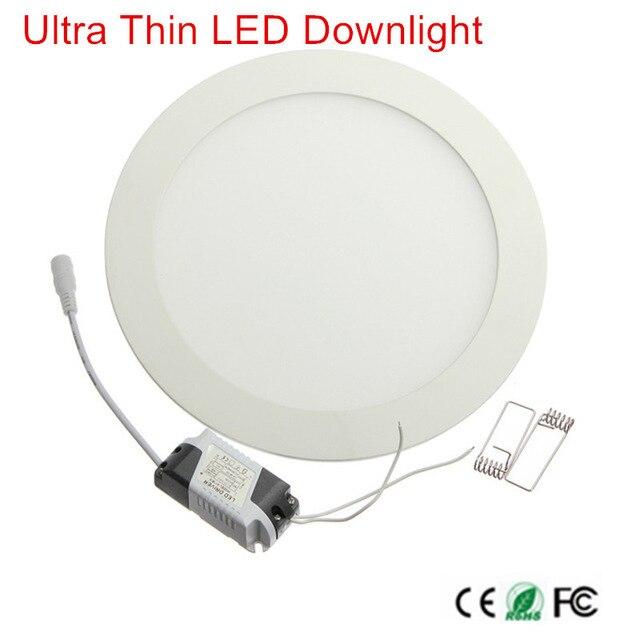 1 יחידות ניתן לעמעום LED פנל אור 3 w 6 w 9 w 12 w 15 w 25 w שקוע תקרה LED Downlight מקורה ספוט אור AC110V 220 v נהג כלול