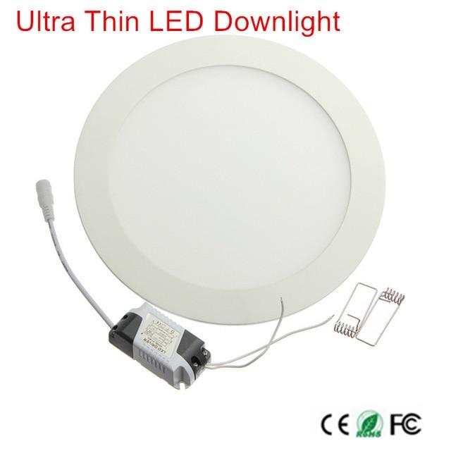 1 pcs ניתן לעמעום LED פנל אור 3 W 6 W 9 W 12 W 15 W 25 W שקוע תקרה LED Downlight מקורה ספוט אור AC110V 220 V נהג כלול