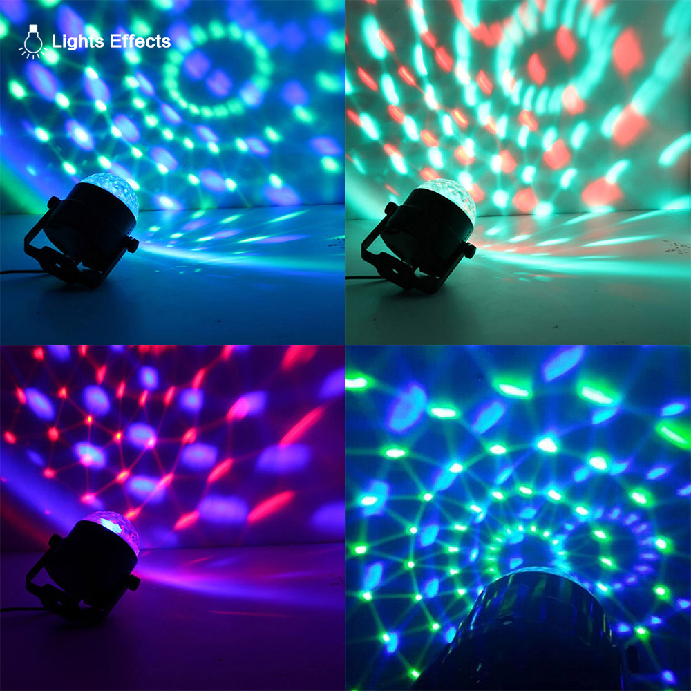 Mini RGB LED Crystal Magic Ball Stage Effect Lighting Lamp Bulb Party Disco Club DJ Light Show Lumiere party bar lights for home mini rgb led party disco club dj light crystal magic ball effect stage lighting