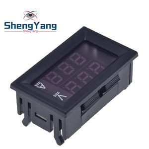 """Image 3 - DC 0 100V 10A Digital Voltmeter Ammeter Dual Display Voltage Detector Current Meter Panel Amp Volt Gauge 0.28"""" Red Blue LED"""