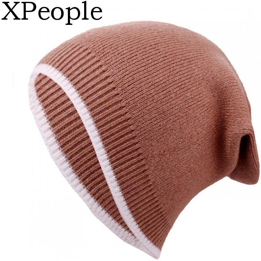 XPeople Unisex Beanie Hat Merino Wool Daily Soft Hat Knit Men Women Knitting Hats Plain Beanie Cuff Knit Cap