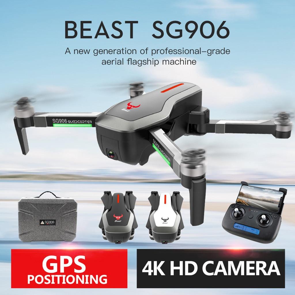 SG906 GPS 5G WIFI FPV 4 K caméra sans brosse Selfie pliable Drone quadrirotor + valise Drones avec caméra HD Rc quadrirotor