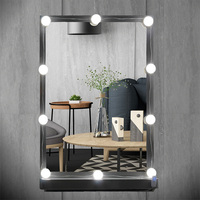 USB Plug Makeup Mirror Vanity LED Light Bulbs Kit for Dressing Table with Dimmer, 10 White Bulbs Hollywood Style Light String