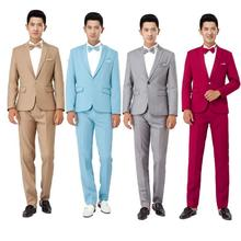 New Long-Sleeved Men's Suits Dress Hosted Theatrical Tuxedos For Men Wedding Prom suit jacket and pants two-piece