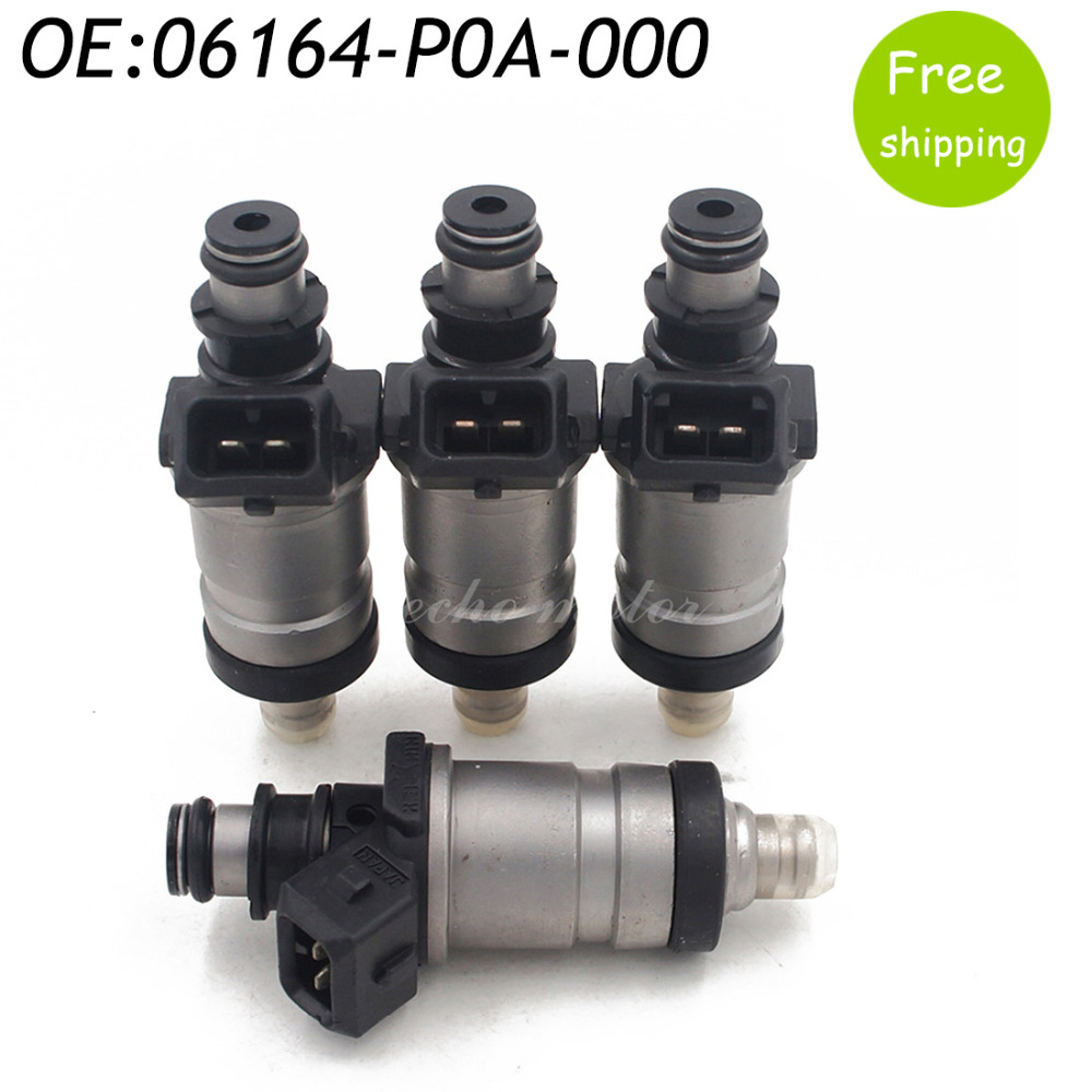 4PCS New 06164-P0A-000 Fuel Injector For 1986-1997 Honda Accord Prelude 2.0 2.2 Acura Prelude 06164P0A000
