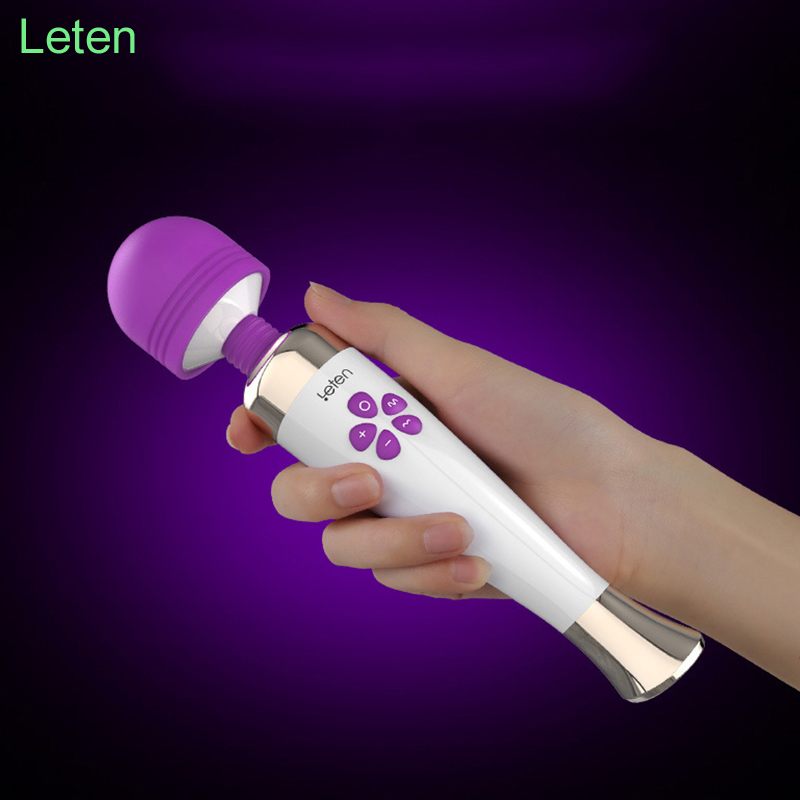Leten AV Magic wand Vibrators for women G spot Dildo vibrator Adult Sex toys for woman Vibrador clitoris Vibradores Sex products sex products vibrators dildos for women usb rechargeable av magic wand vibrator massager clit vibrator sex toys for woman