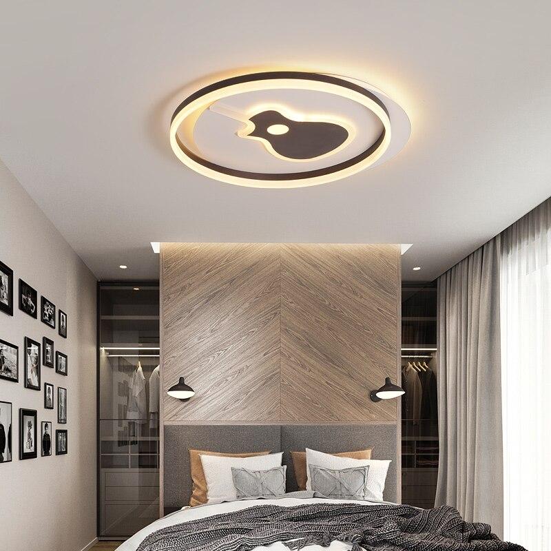 Nouveauté blanc ou café LED lustre lampes pour salon étude chambre en aluminium plafond moderne à LEDs lustre éclairage