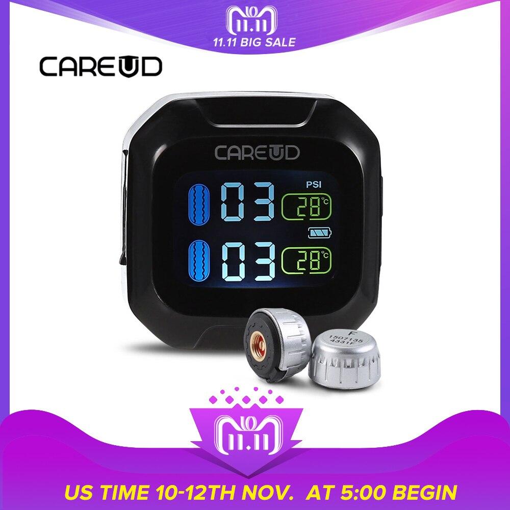 Careud M3 WI TPMS Moto Moto LCD Écran Affichage Support Du Système de Surveillance de Pression Des Pneus en Temps Réel Et Température