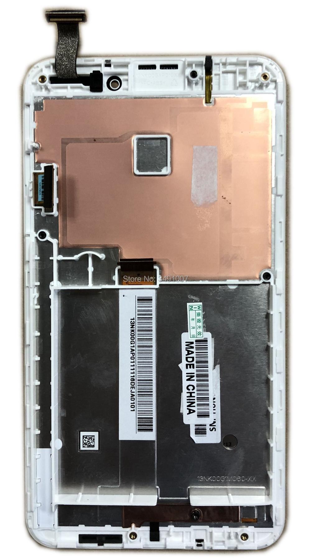 לבן צבע LCD מסך מגע Digitizer עצרת עבור Asus Fonepad הערה 6 FHD6 ME560CG ME560 K00G עם מסגרת