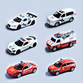 1:32 Alloy Police Model Car Diecast Cars Toy with Sound & Light Pull Back Kids Toy Metal Cars For Audi Benz AMBULANCE Model