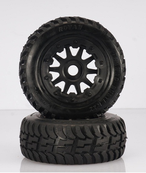 baja 5T/5SC new on road wheels and tyres 2pc (front) 95164 сенсорная бесколлекторная система xtreme stock 13 5t для on road моделей масштаба 1 10 hw combo s4a