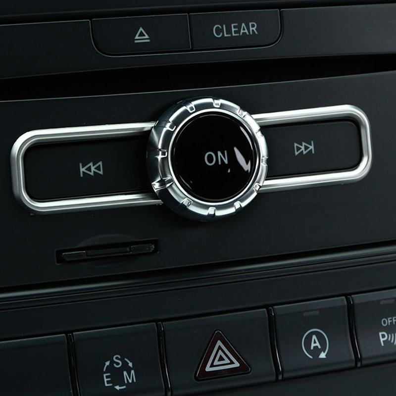 Car Central control CD Switch Sequin Trim For Mercedes Benz CLA GLA B Class A180 W176 E GLE Class 2015 2016 2017 Accessory