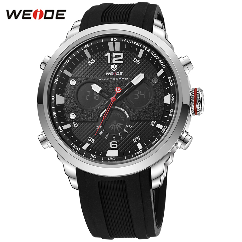 цена WEIDE Fashion Led Digital Quartz Watches Men Military Sports Watch Week Display Male Wrist Watches Time Clock Relogio Masculino онлайн в 2017 году