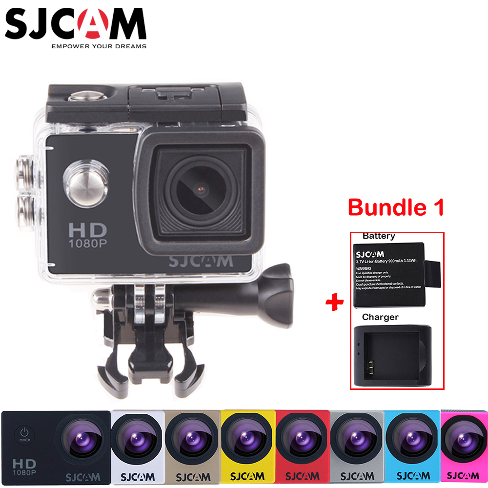 Original Sjcam SJ4000 2'' Screen 30M Waterproof Underwater Mini Sports Action Camera Car Mini DVR+Extra Battery +Charger