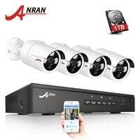 ANRAN P2P Plug And Play 4CH NVR 48V POE CCTV System 1080P HD Array IR Motion