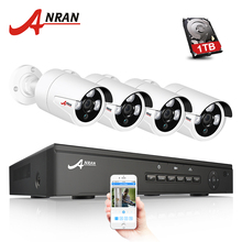 ANRAN P2P Plug And Play 4CH NVR 48V POE CCTV System 1080P HD Array IR Motion Detection Outdoor Security POE IP Camera 2TB HDD
