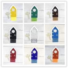 10 Colors Teeth Fairy Door  with welcome mat and road sign for tree outdoor garden tale door home decor