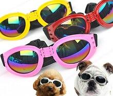 Multicolor Verano Perro Mascota Plegable gafas de Sol De Plástico Gafas de Protección Gafas Anti-Viento