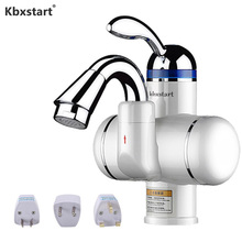 Kitchen Bathroom Instantaneous Water Heater Tap Inner Stainless Steel Electrical Heater Tankless Calentador De Agua Water Faucet kbxstart kitchen electric water heater faucet stainless steel housing tap instant tankless calentador de agua electrico with led