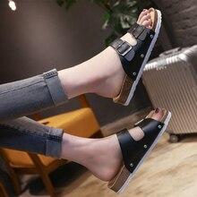 ¡Novedad! sandalias Chanclas de plataforma de corcho con hebilla deslizante para mujer