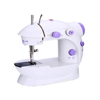 Mini Hand Foot Overlock Motor Sewing Machine Dual Speed Portable Mini Electric Pedal Double Threads Rewind Swing Machines