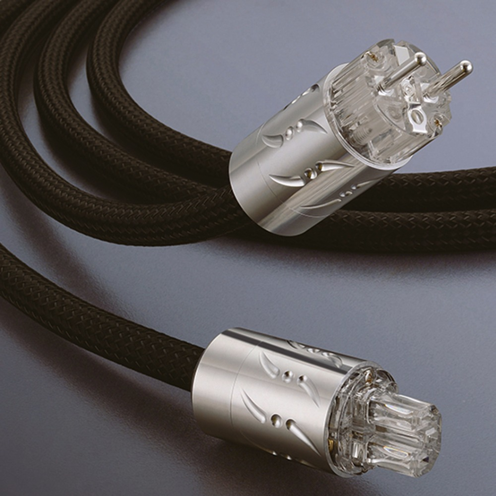 Viborg XHi-End Hifi Audio Power Cable Power Cord with EU/US Plug viborg audio power cable us ac power cord cable 2m high quality hi end us plug cable