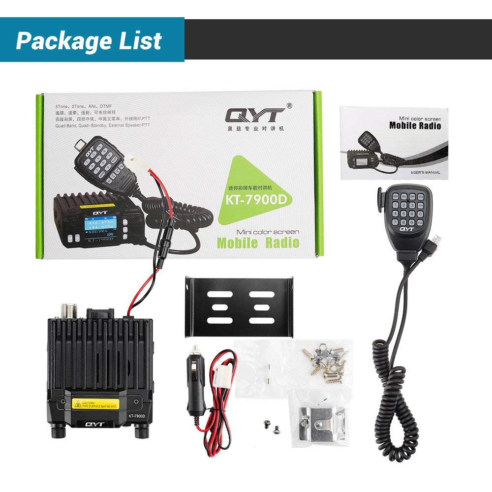 Image 5 - Latest Version QYT KT 7900D Mobile Radio Quad band Quad Display 144/220/350/440MHZ 25W Car Walkie Talkie Two Way Radio KT7900D-in Walkie Talkie from Cellphones & Telecommunications